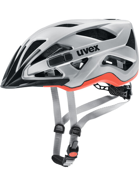 UVEX Active CC Helmet silver-orange matt